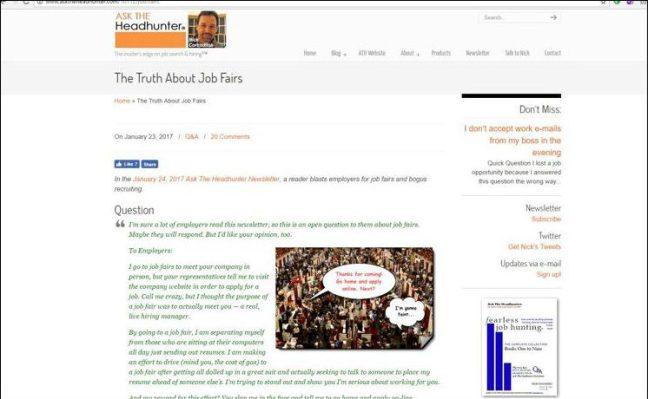 Ask The Headhunter® blog website