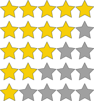 1 to 5 star rating