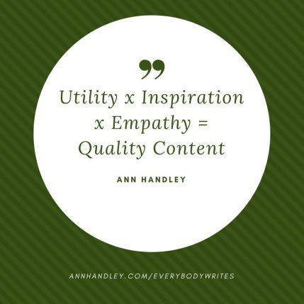 Handley's Quality Content Formula