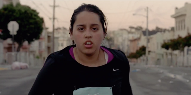 Nike TV spot showing woman as the last place finisher in a marathon.