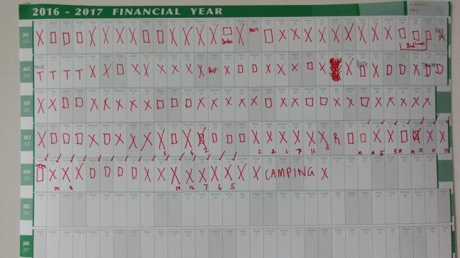Mark an X Calendar